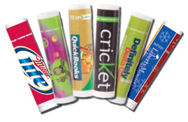 flavored branded lip balm